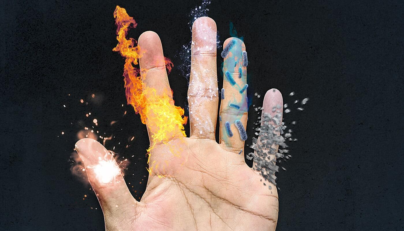 Schutzhandschuhe für Handwerker