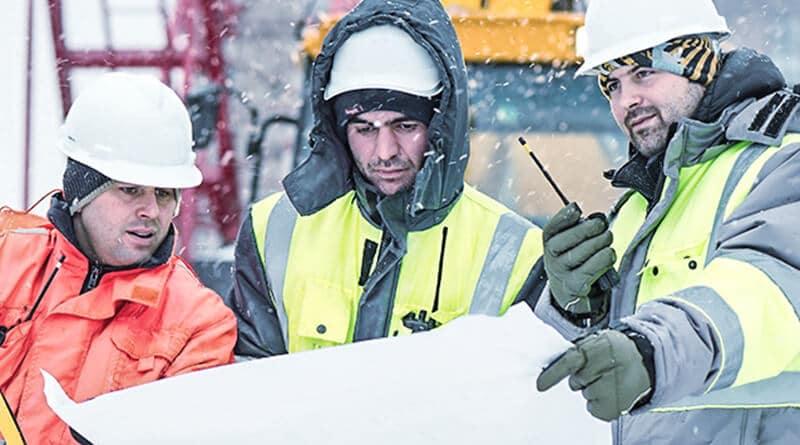 Arbeitskleidung im Winter für Handwerker