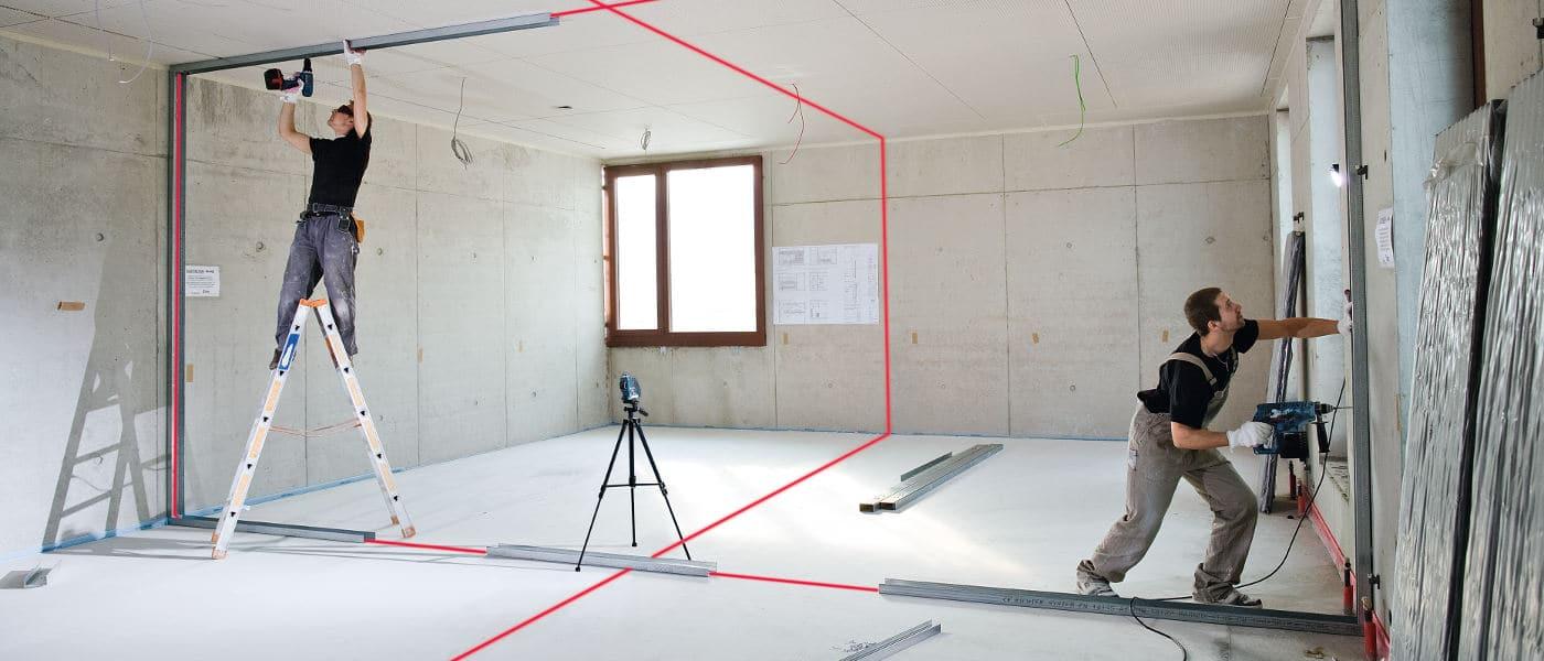 Arbeit mit Lasergeräten
