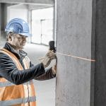 Lasergerät zur Vermessung der Baustelle