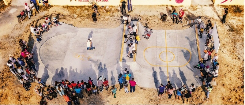 Skatepark in der Karibik