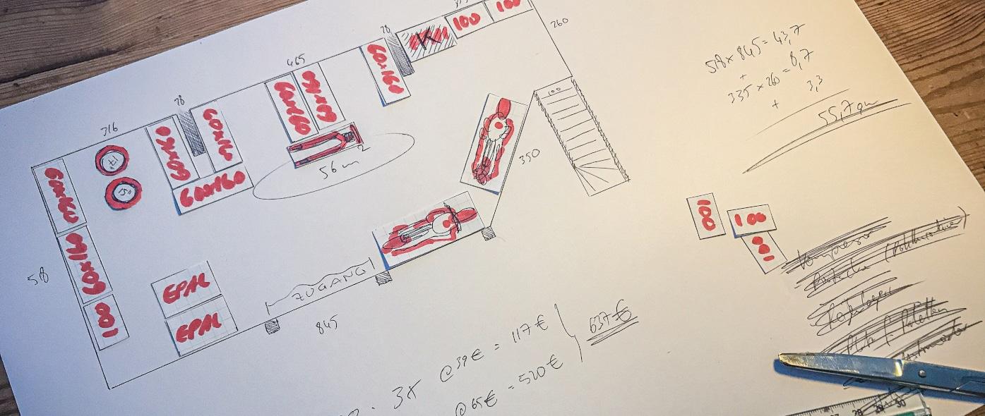 bauprojekt skizze scheune zur traumwerkstatt
